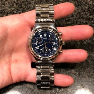 🏈 NWOT Vintage Men's SWATCH Watch Irony AG 1996